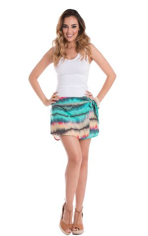 SHORT SAIA CARLY-ESTAMPA VERDE