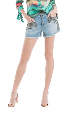SHORT BORDADO-JEANS