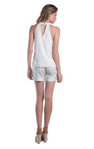 SHORT BARRA ITALIANA-ESTAMPA OFF