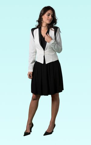 BLAZER PALA COURO MESSINA-OFF WHITE