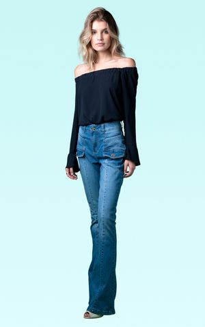 CALCA FLARE WESTWOOD-JEANS ESCURO