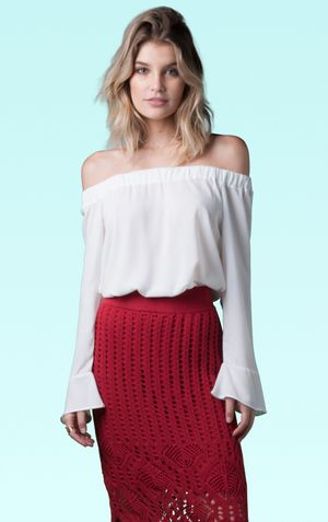 BLUSA OMBRO A OMBRO WESTWOOD-OFF WHITE