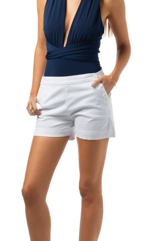 SHORTS COM BOTOES LATERAIS-BRANCO