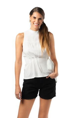 BLUSA COM AMARRACAO CINTURA-OFF WHITE